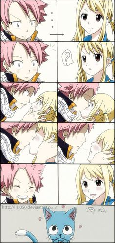 fairy tail natsu and lucy kiss gif - Recherche Google