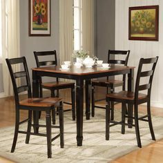 Counter Height Dining Sets With Bench Consist Of Garrett Counter Height Dining Set 8211 7 Pc Featured With Unique Counter Height Dining Sets