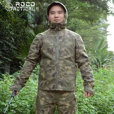 92.72$  Watch here - http://aliy9o.worldwells.pw/go.php?t=32753896298 - Mens Military Clothing Includes Hooded Jacket & Pants Adult Ripstop Soldier Camouflage Army Clothing Camo Combat Army Suit