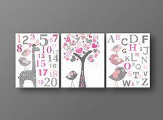Nursery wall art baby nursery kids art alphabet by GalerieAnais, $42.00