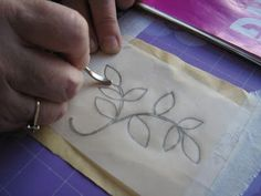 Nice tutorial on how to transfer a design for embroidery, from Ella's Craft Creations.
