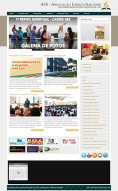 Site da Associação Espírito-Santense • 2009 - 2010
