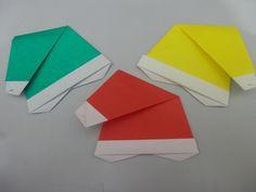 Gorro do papai noel - Origami - Passo a passo