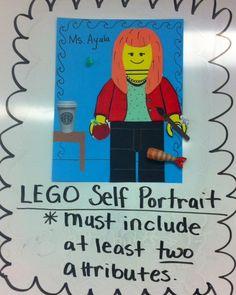 Art Sub Plans, Art Lesson Plans, Middle School Art, Art School, Lego Portrait, Art Assignments, Lego People, 6th Grade Art, Art Lessons Elementary