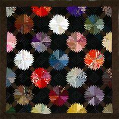 """080216_004 """"Temari"""" - Quilt en soies de kimonos anciens japonais"""