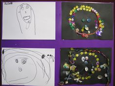 Irresistible Ideas for play based learning » Blog Archive » self portraits – collage style