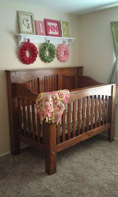 This is a beautiful custom crib my husband made for us when I was expecting my son. Now we also have a beautiful little girl. Maybe, one day we can pass this incredible piece of furniture on to our grand children. Check out this blog to see other cool custom cribs, and the projects that are in the works.