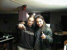 Tobias Sammet and Andre Matos