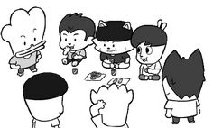 Bts Hiphop Monster, Hip Hop Monster, Webtoon, Monsters, Fanart, Comics, Fan Art, Comic Book, Comic