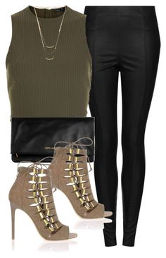 """""""Untitled #5095"""" by angela379 ❤ liked on Polyvore featuring Topshop, Yves Saint Laurent, River Island and Gorjana"""
