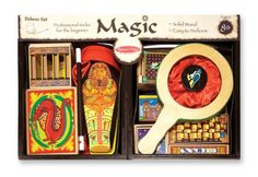 Professional magic tricks for the beginning illusionist Impressive, easy-to-master tricks encourage confidence, and help develop fine motor skills and hand-eye coordination 10 classic tricks include Disappearing Ball, Magic Coin Box, Secret Silks, Great Escape, Magic Number Prediction, Money Maker, Egyptian Prediction, Vanishing Zone, Cylinder Squeeze, and Vanishing Coin. toys4mykids.com