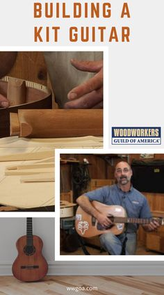 Building a guitar is an excellent test of a skilled woodworker's craftsmanship, but if you're like most people, you probably want to skip the long woodworking processes of shaping and sanding the body. So master woodworker George Vondriska gives you a quick rundown on a couple ready-made guitar kits that are available for you to choose and tells you just how much woodworking skill is needed to complete each kit guitar. Woodworking Projects That Sell, Woodworking Skills, Woodworking Techniques, Teds Woodworking, Diy Home Decor Projects, Wood Projects, Guitar Kits, Birdhouse Designs, Wood Plans