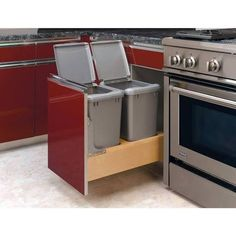 kitchen base cabinet trash home depot - Google Search