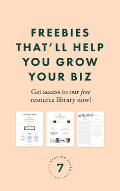 Do you have a small business, blog, or creative shop you want to grow to create your dream biz + life!? We have freebie resources curated just for you and your needs.