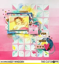 The Cut Shoppe DT Project by Missy Whidden - using Retro Rounded Corners & You're a Gem cut files - American Crafts Dear Lizzy Serendipity collection from My Scraps & More.