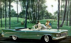 1961 Imperial Crown convertible brochure illustration