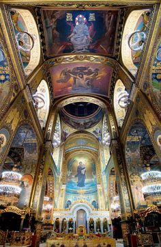 The Cathedral of St Vladimir (St. Volodymyr's Cathedral), Kiev, Ukraine.