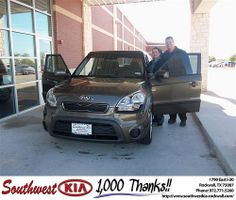 Happy Anniversary to Joshua Bailey on your 2013 #Kia #Soul from Jennifer Denson and everyone at Southwest KIA Rockwall! #Anniversary