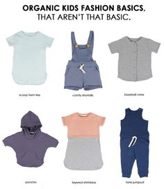 Organic Children's Clothes That Are Made For Everyday Wear