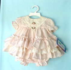 Beautiful NWT Vintage Peach Ruffly Infant by StarrChildVintage