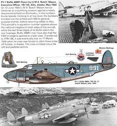 Lockheed PV-1 Ventura,, BuNo 48891. Aviones, Aviones Caza, Aviones Militares, Aviones Segunda Guerra Mundial, Marina De Estados Unidos, Arte De Aviación, Segunda Guerra Mundial, Fotos Históricas, Vehículos Militares