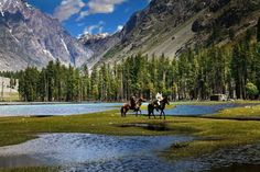 Horse riding near the breathtaking Mohodand Lake in Kalam Valley, Swat. PHOTO: JAVED IQBAL CHAWLA