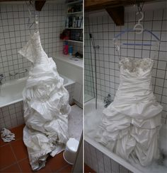 DIY: How to Clean Your Wedding Dress. One year and six months later I am finally tackling this project today!