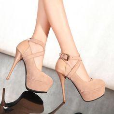 Platform Sexy Women's Pumps Shoes black Bottom High Heels