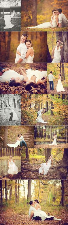 Wedding/Trash the Dress- I want to do something fun like this someday. Maybe for out 5th wedding anniversary or being together for 10 years. Give me something to do with my wedding dress and a reason to wear it again!