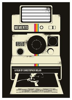 Memento, a film by Christopher Nolan, excellent poster by Dan Sherratt. Best Movie Posters, Minimal Movie Posters, Cinema Posters, Movie Poster Art, Cool Posters, Fan Poster, Creative Posters, Print Poster, Art Print