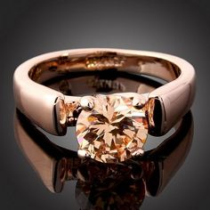 18k Rose Gold Swarovski Ring