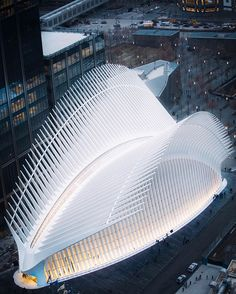 The Oculus at WTC. New York City. after many years connected with delay, this Minimalist Architecture, Organic Architecture, Chinese Architecture, Futuristic Architecture, Classical Architecture, Facade Architecture, Residential Architecture, Contemporary Architecture, Santiago Calatrava