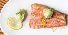 Recipe: Baked Salmon with Avocado-Dill Yogurt