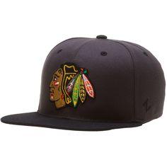 992982296bae3 Chicago Blackhawks Grey Black Logo Snapback Hat
