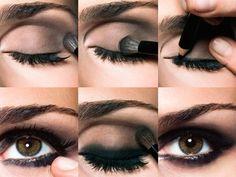 Tutorial de smokey eyes con sombra café y negra. Recrea este look de ojos ahumados de forma sencilla.