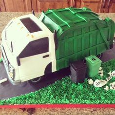 Garbage truck cake.