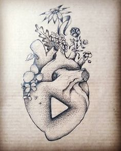 Let's Play ▶  #dotwork #drawing #draw #heart #flowers #music #tattoodesign #black #ink #forthebestfriend #dotworktattoo #blackwork #dotworkers #revival #relife