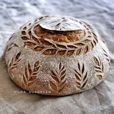 Brot mit Kunstkruste Artisan Bread Recipes, Sourdough Recipes, Sourdough Bread, Bread Art, Breakfast Lunch Dinner, Sugar And Spice, Bread Baking, Bakery, Breads