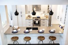White Rustic Kitchen by Calgary Interior Designer 1