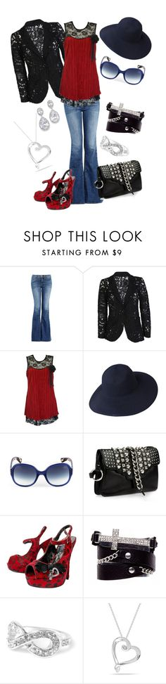 """""""Black Red and Blue"""" by alexandra-sutton-pyle ❤ liked on Polyvore featuring J Brand, Pia Rossini, Lanvin, Giuseppe Zanotti, Iron Fist and 2b bebe"""