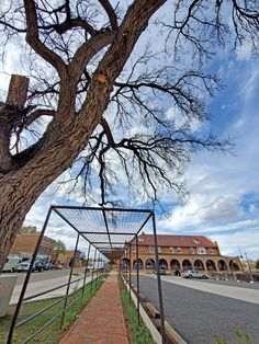 The Hotel Castaneda is a historic Fred Harvey Hotel located in Las Vegas, New Mexico, along Amtrak's Southwest Chief line. New Vines, Vine Trellis, New Mexico, Las Vegas, Restoration, Louvre, Mansions, House Styles, Building