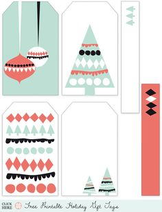 Holiday Roundup: Awesome Free Gift Tag Printables - Home - Creature Comforts - daily inspiration, style, diy projects + freebies