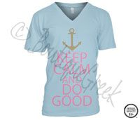Delta Gamma Keep Calm Tee -ΔΓ Collection. Design Exclusive to BoutiqueGreek.com    Want so bad!