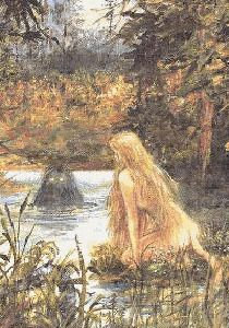 Huldra -Norse Mythology Creature - This picture pops up all over the internet, but I have yet to find it anywhere in a reasonable size, or a mention of the artist. :/