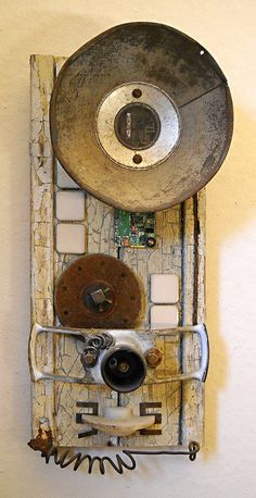 Payphone found object assemblage by tristanfrancis on Etsy