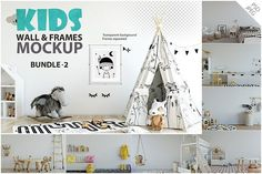 KIDS WALL & FRAMES Mockup Bundle - 2 by Yuri-U on @creativemarket   ...Perfect for Branding your creation or business. Interior wall Mockups good to use for shop owners, artists, creative people, bloggers, who want to advertise or show their latest design!    #ADD  https://crmrkt.com/533qP8?u=michelle.martin1100