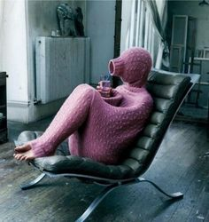 You SOOOO need this! Full-Body Sweater for when you're just having one of those days.