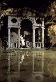 Katharine Hepburn and Montgomery Clift on the set of Suddenly, Last Summer (1959, dir. Joseph L. Mankiewicz) Photographer: Burt Glinn
