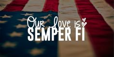 Our Love Is Semper Fi Vinyl Decal by CGAINSTUDIO on Etsy