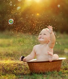 Playing with bubbles. Need to shoot a picture like this of Addy.